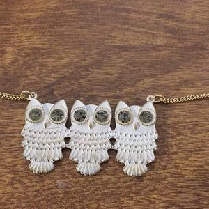 """Necklace 3 owls chain 18"""" long adorable"""